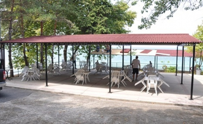 Belediye plajında yenilikler sürüyor