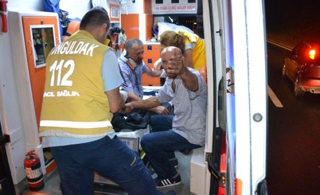 Alaplı´da kaza;2 yaralı