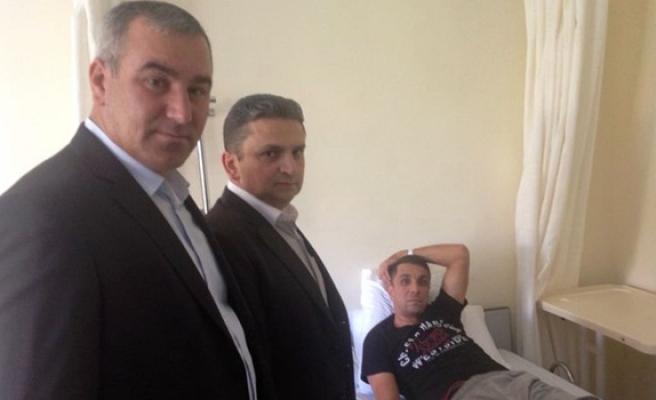 Alabaş, tedavi gören Özbay'ı hastanede ziyaret etti