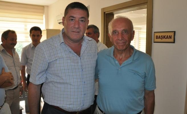 Eski Zonguldak Valisi Seçkin´den,Başkan Tekin´e ziyaret