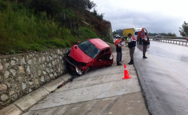 Zincirleme kaza da otobüs şoförü şoka girdi