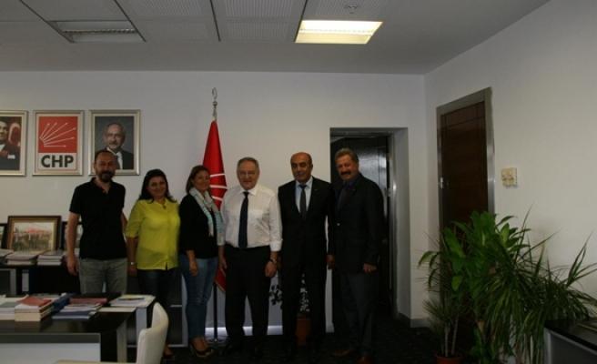 CHP Ereğli İlçe Örgütü genel merkezi ziyaret etti