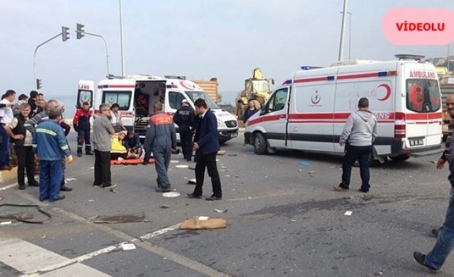 Alaplıda kaza; 3 yaralı