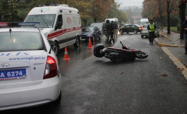 Ereğli´de motosiklet kazası: 1 Yaralı