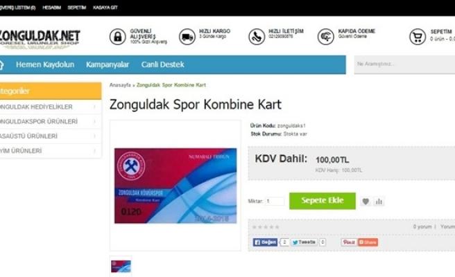 Zonguldakspor kombineleri internetten satılıyor