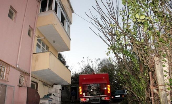 Mutfakta çıkan yangına itfaiye ekipleri müdahele etti