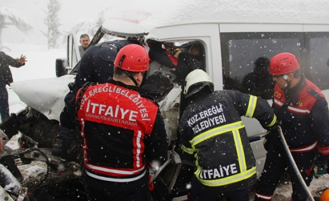 Zonguldak-İstanbul karayolunda trafik kazası: 11 yaralı