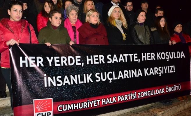 "CHP'li üyelerden ""Tecavüz"" protestosu"