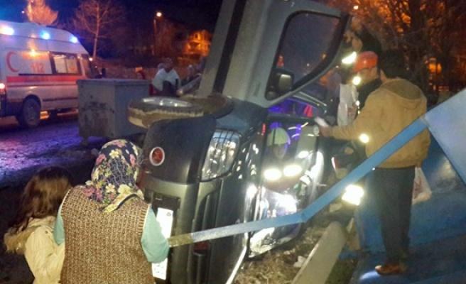 Meydana gelen trafik kazasında 5 kişi yaralandı