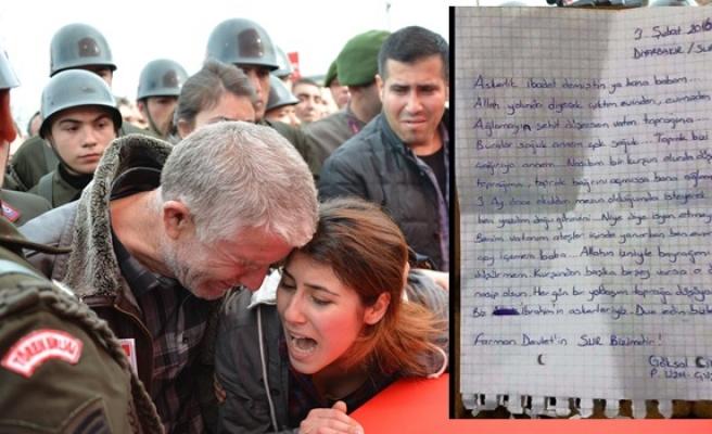 Zonguldaklı şehidin yürek burkan son mektubu