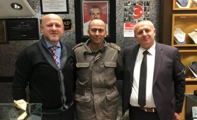 İlçe Jandarma Komutanı Tufan´dan  Yazıcıoğlu´na ziyaret