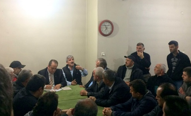 CHP'li heyet, Ören Yenimahalleli'li vatandaşların sorunlarını dinledi