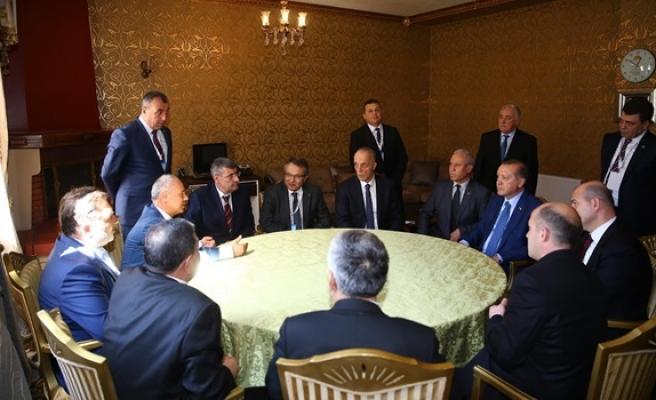 Madene işçi alımı için Cumhurbaşkanı Erdoğan ile görüştüler