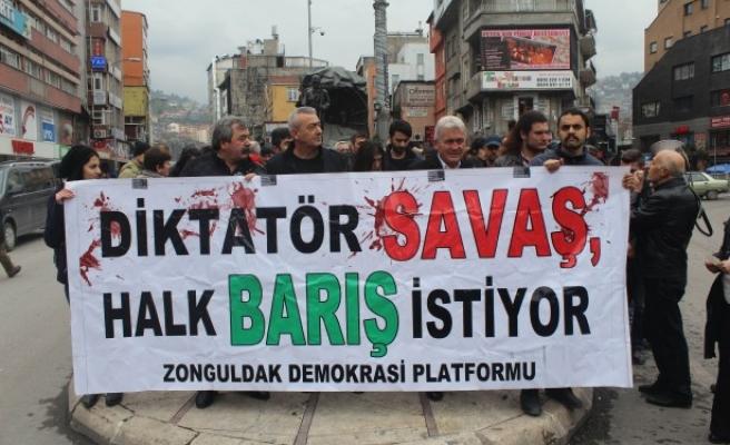 Zonguldak teröre tepki için yürüdü