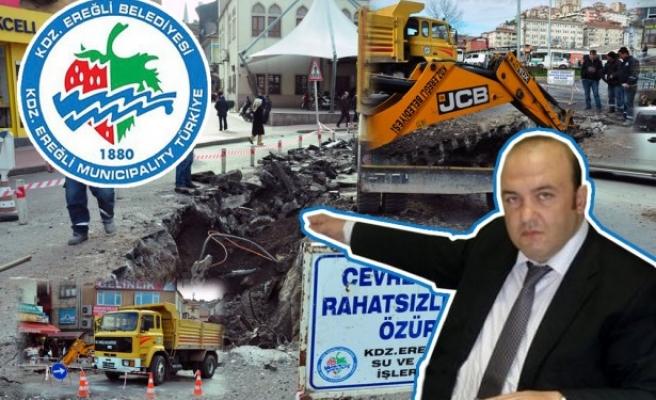 Ereğli Belediyesinden alt yapı çalışması