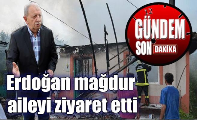 Erdoğan mağdur aileyi ziyaret etti