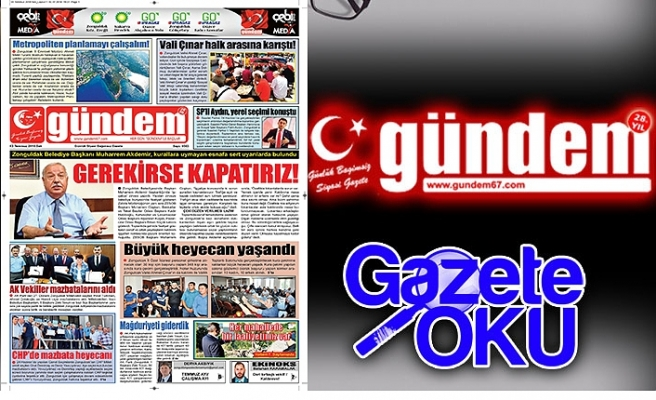 03 Temmuz 2018 Salı Gündem Gazetesi
