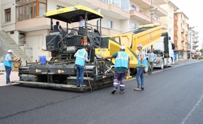Belediye sıcak asfalt sezonunu açtı!