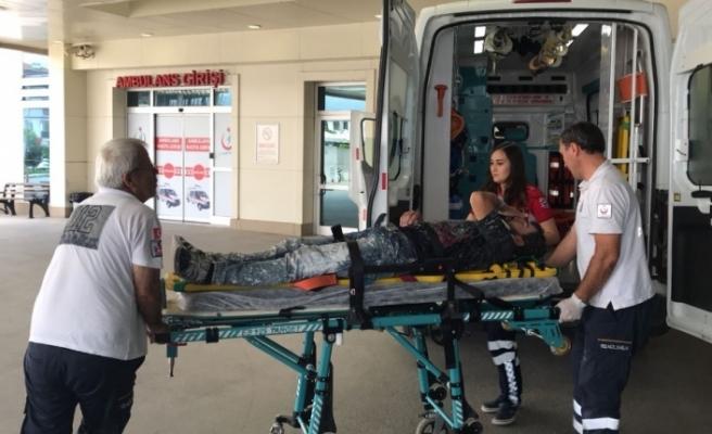 İnşaattan düşen işçi yaralandı!