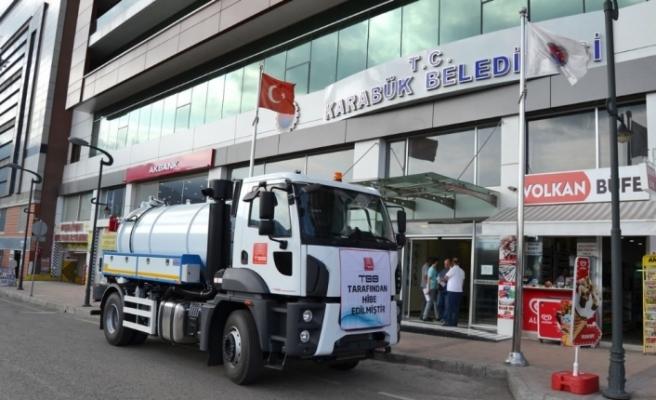 Karabük Belediyesi araç filosuna yenisini kattı!
