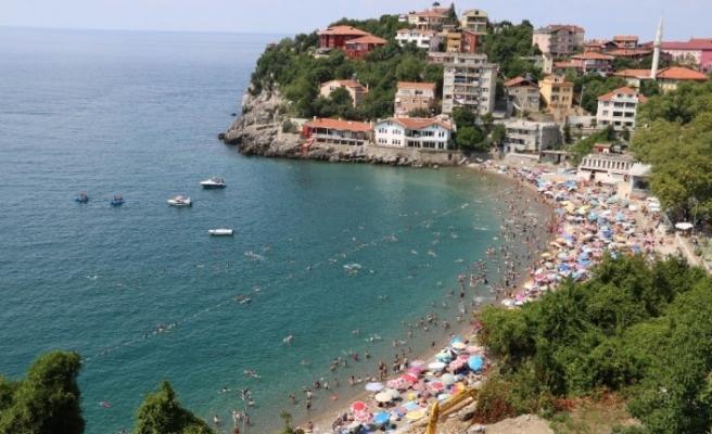 Zonguldak plajı Akdeniz'i aratmadı!