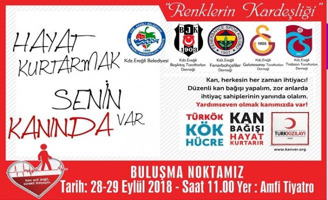"""HAYAT KURTARMAK SENİN KANINDA VAR"""