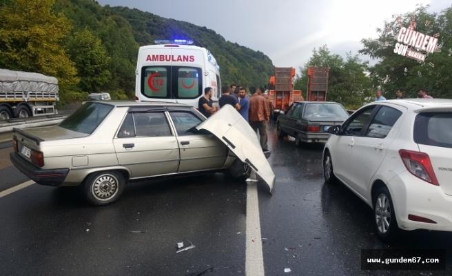 Yağmur zincirleme kazaya sebep oldu!..