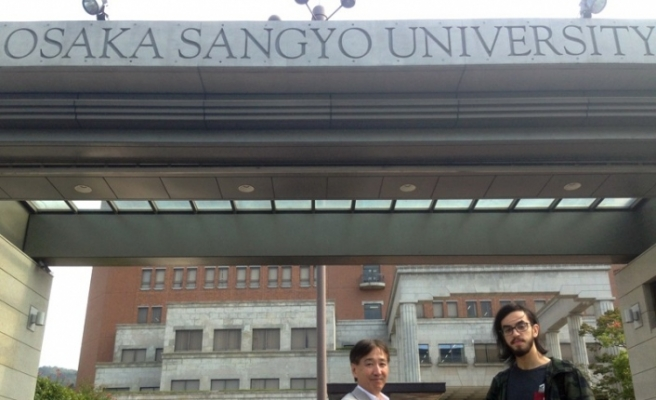 Düzce Üniversitesi öğrencisi Japonya'ya gitti