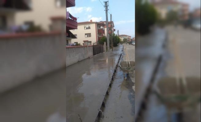 Düzce'de bazalt beton çalışmaları başladı