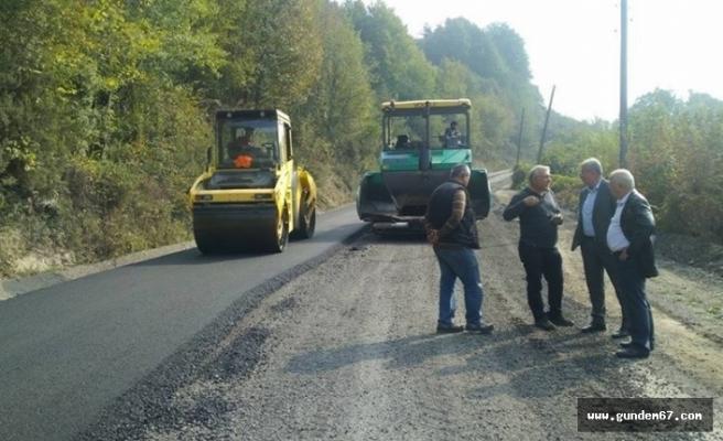 Kardeşler köyüne sıcak asfalt