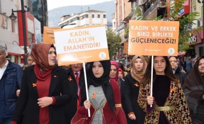 AK Parti Kadın Kollarından kadına yönelik şiddetle mücadeleye destek