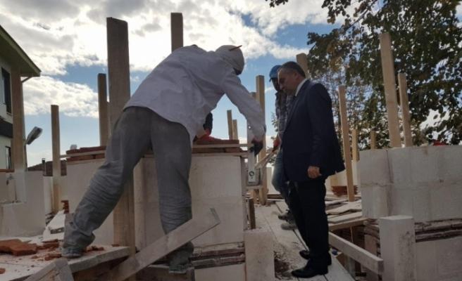 Başkan Dursun Ay restorasyon çalışmalarını inceledi