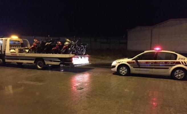 Düzce'de jandarmadan motosikletlere uygulama