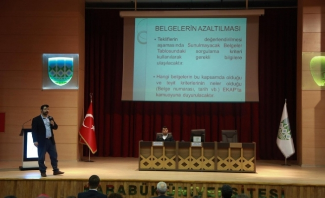 KBÜ'de 200 kamu personeline e-ihale eğitimi verildi
