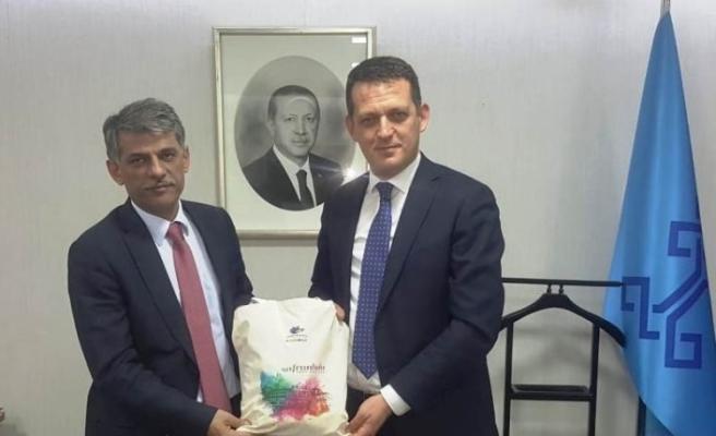 Ürkmezer, Kültür ve Turizm Bakan Yardımcısı Nadir Alpaslan'ı ziyaret etti