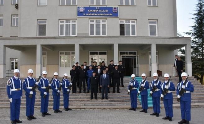 Vali Gürel İl Jandarma Komutanlığının çalışmaları hakkında bilgi aldı