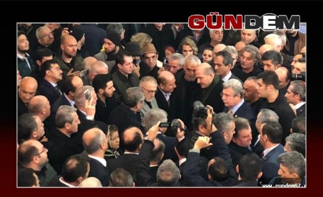 Bakan Soylu, cenaze törenine katıldı