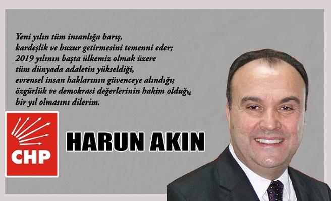 Harun Akın'ın yeni yıl mesajı