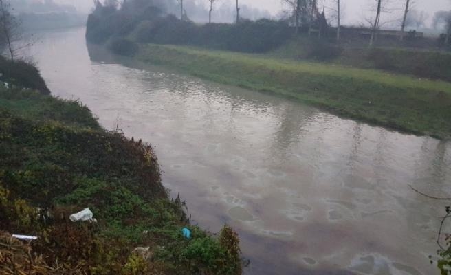 Vanalar çalındı, nehir simsiyah oldu!