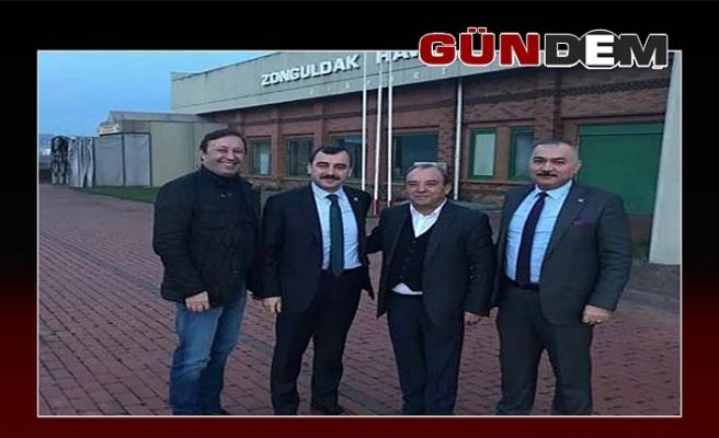 Milletvekili Çolakoğlu, havaalanında!