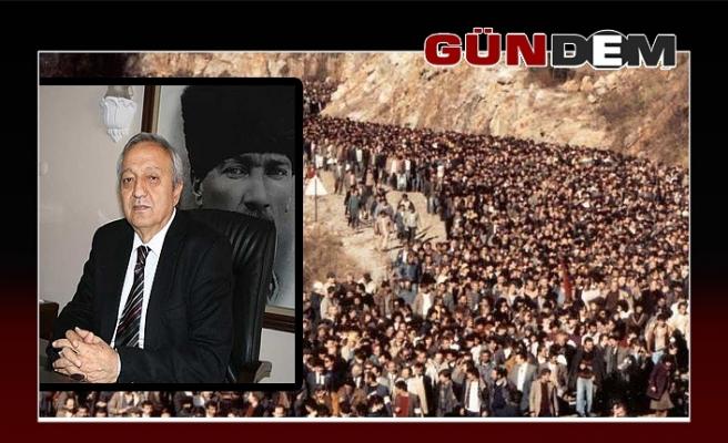 Başkan Semerci büyük madenci yürüyüşünü andı