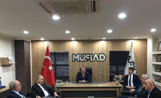 Başkan adayı Özlü MÜSİAD'ı ziyaret etti