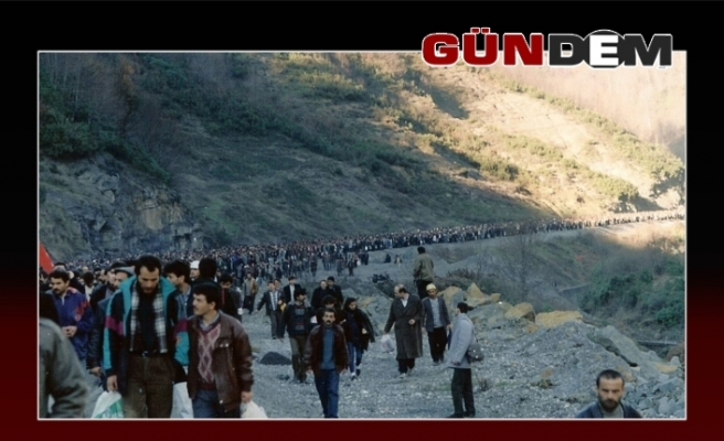 Büyük madenci yürüyüşünün 28. Yılı