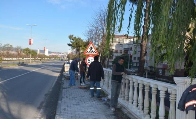 Gülüç Belediyesi çevre düzenleme çalışmaları aralıksız sürdürüyor