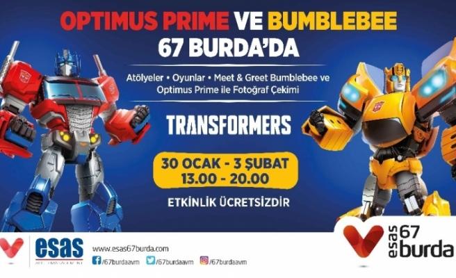 Optimus Prime ve Bumblebee 67 Burda'da