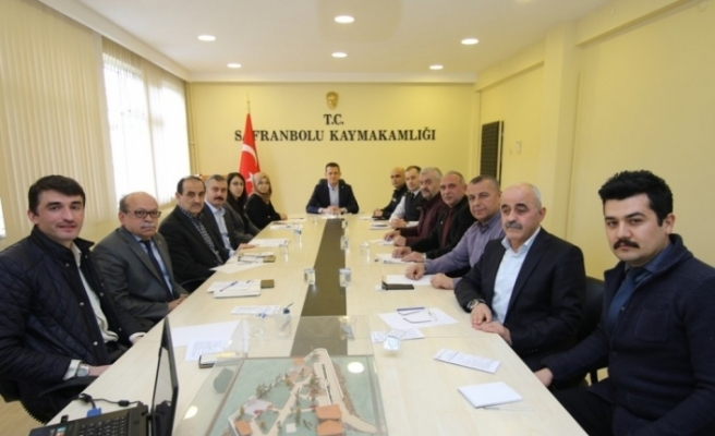 Safranbolu'da  seçim güvenliği toplantısı yapıldı