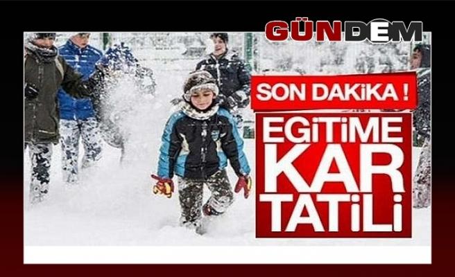 Merkez, Kozlu ve Kilimli'de okullarda kar tatili