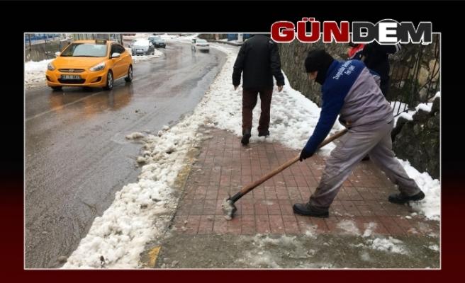 Zonguldak Belediyesinin karla imtihanı!