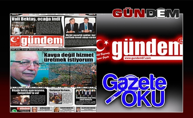 02 Şubat 2019 Cumartesi Gündem Gazetesi
