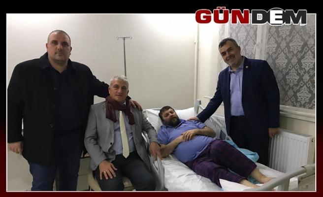 Hamzaçebi'den Caner'e hasta yatağında ziyaret